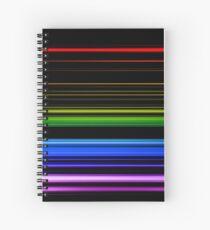 Horizontal Rainbow Bars Spiral Notebook