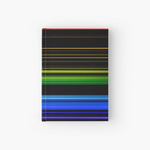Horizontal Rainbow Bars Hardcover Journal