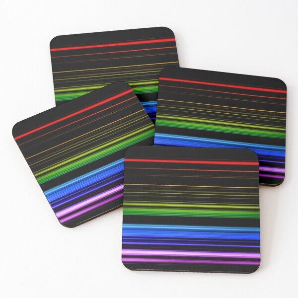 Horizontal Rainbow Bars Coasters (Set of 4)