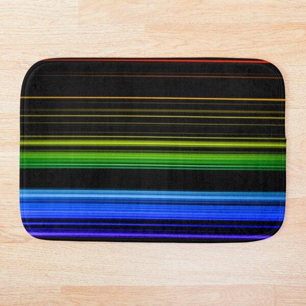 Horizontal Rainbow Bars Bath Mat
