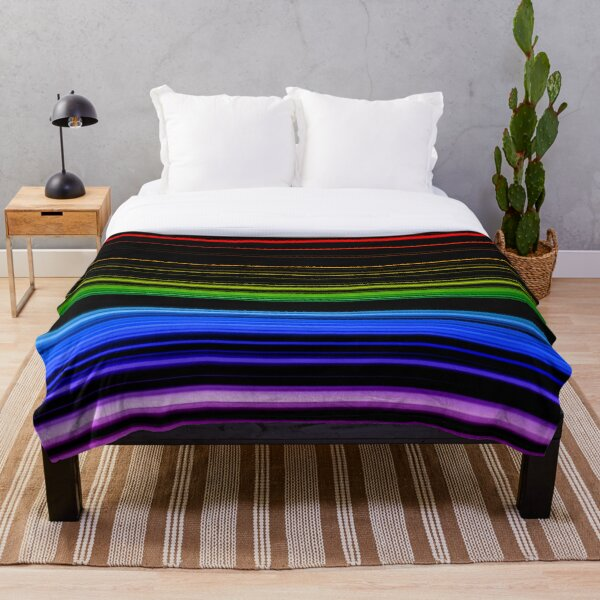Horizontal Rainbow Bars Throw Blanket