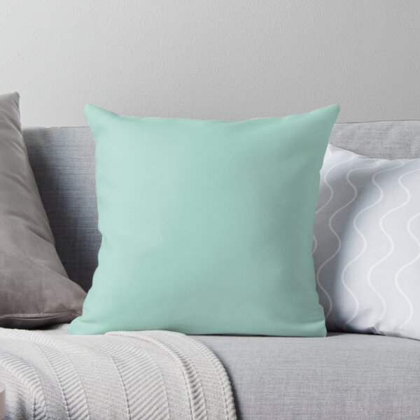 Pastel Teal - Lowest Price On Site - Accent Color Decor Throw Pillow