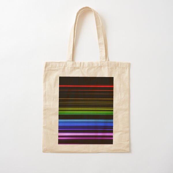 Horizontal Rainbow Bars Cotton Tote Bag