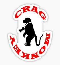 Crag Monkey Sticker