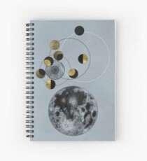 Phases of the Blue Moon Spiral Notebook
