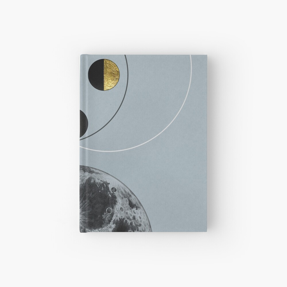 Phases of the Blue Moon Hardcover Journal