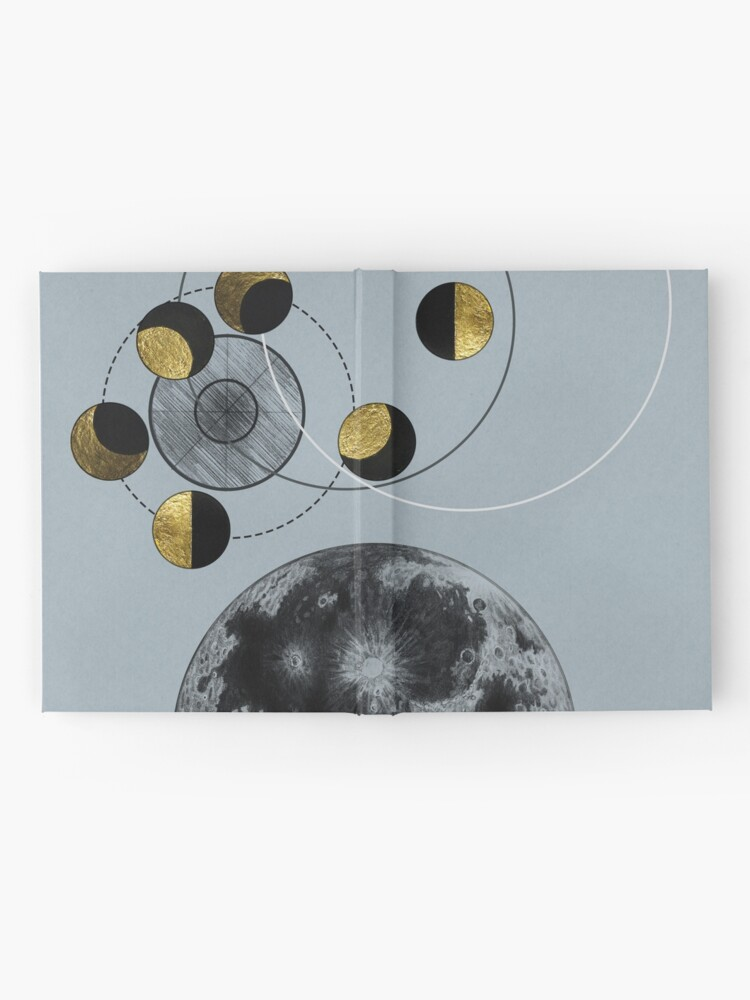 Alternate view of Phases of the Blue Moon Hardcover Journal