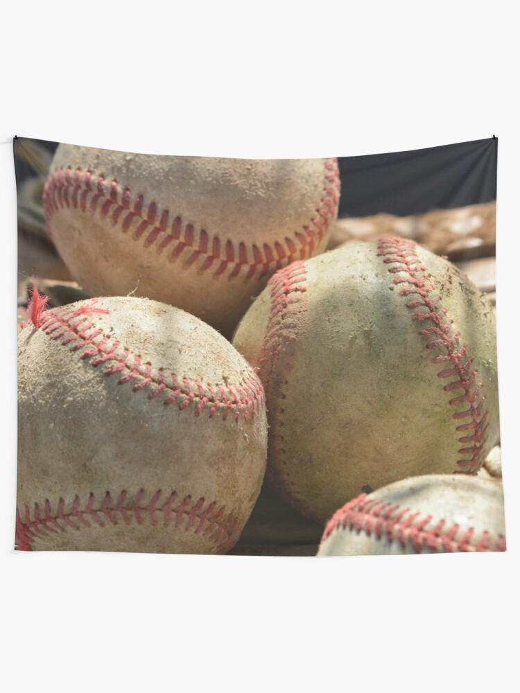Alternate view of Baseballs and Glove Tapestry