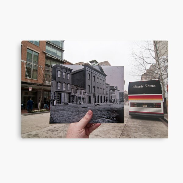 Looking Into the Past: Ford's Theatre, Washington, DC Metal Print