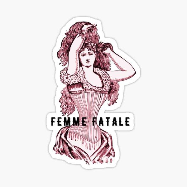 VINTAGE CORSET WEARING WOMAN Sticker