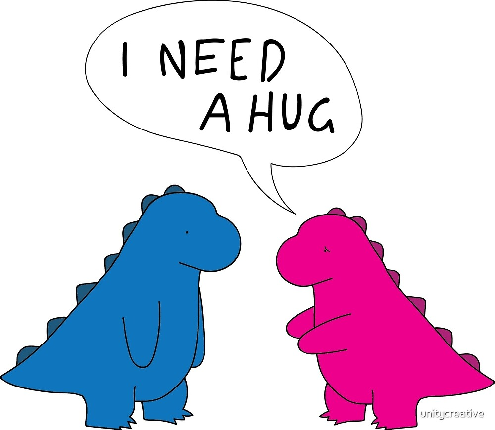 T-Rex Hug by unitycreative