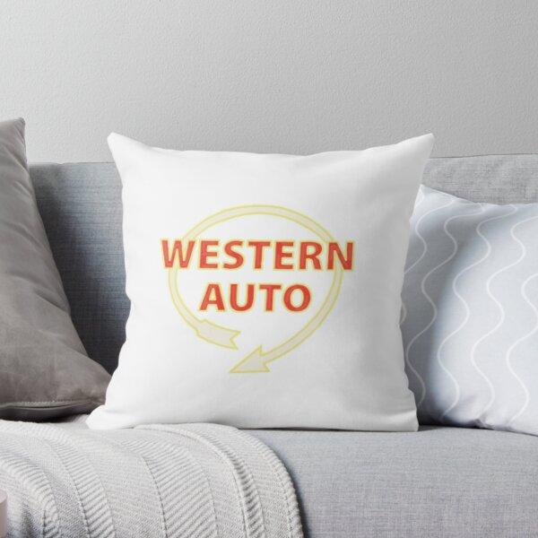 western auto sign-kc Throw Pillow