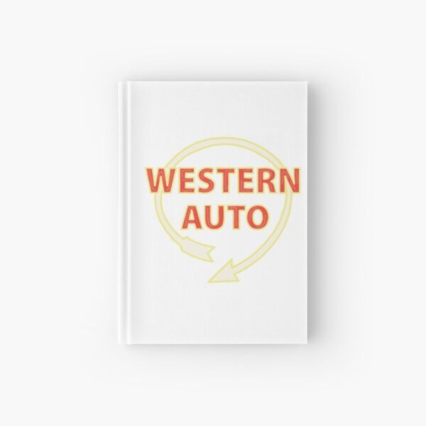 western auto sign-kc Hardcover Journal