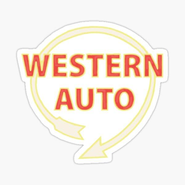 western auto sign -kc Sticker