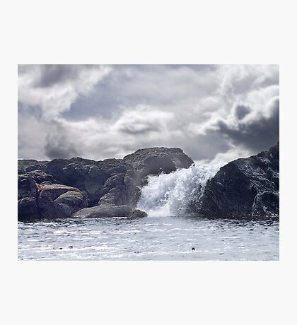 Ocean Waterfall Photographic Print