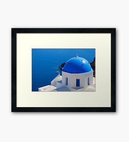 Oia Village, Santorini Framed Print