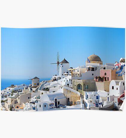 Oia Village 3, Santorini, Greece Poster
