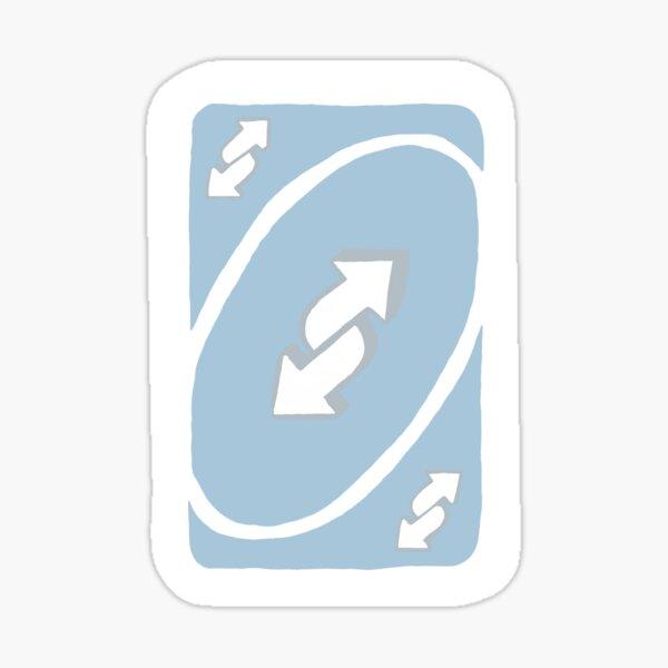 Pastel Blue Uno Reverse Card Sticker