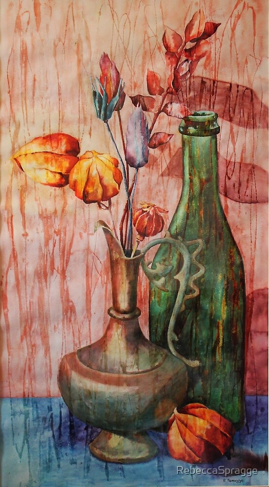 Genie Lamp Still Life Painting by RebeccaSpragge