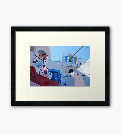 Oia Village Again, Santorini, Greece Framed Print