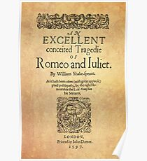 Shakespeare, Romeo and Juliet 1597 Póster