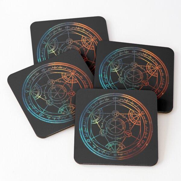 Space Nebula Human Transmutation Circle  Coasters (Set of 4)