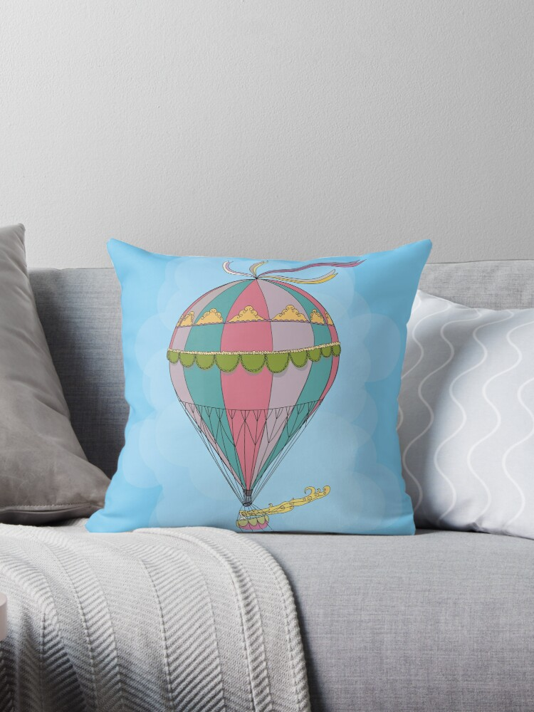 girl in an vintage hot air balloon by thelazypigeon