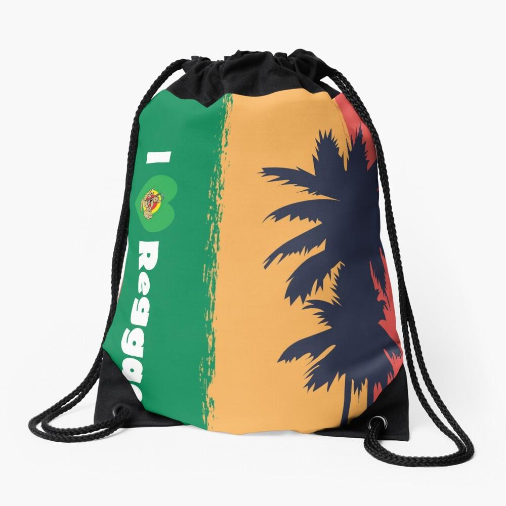I love Reggae ! Drawstring Bag