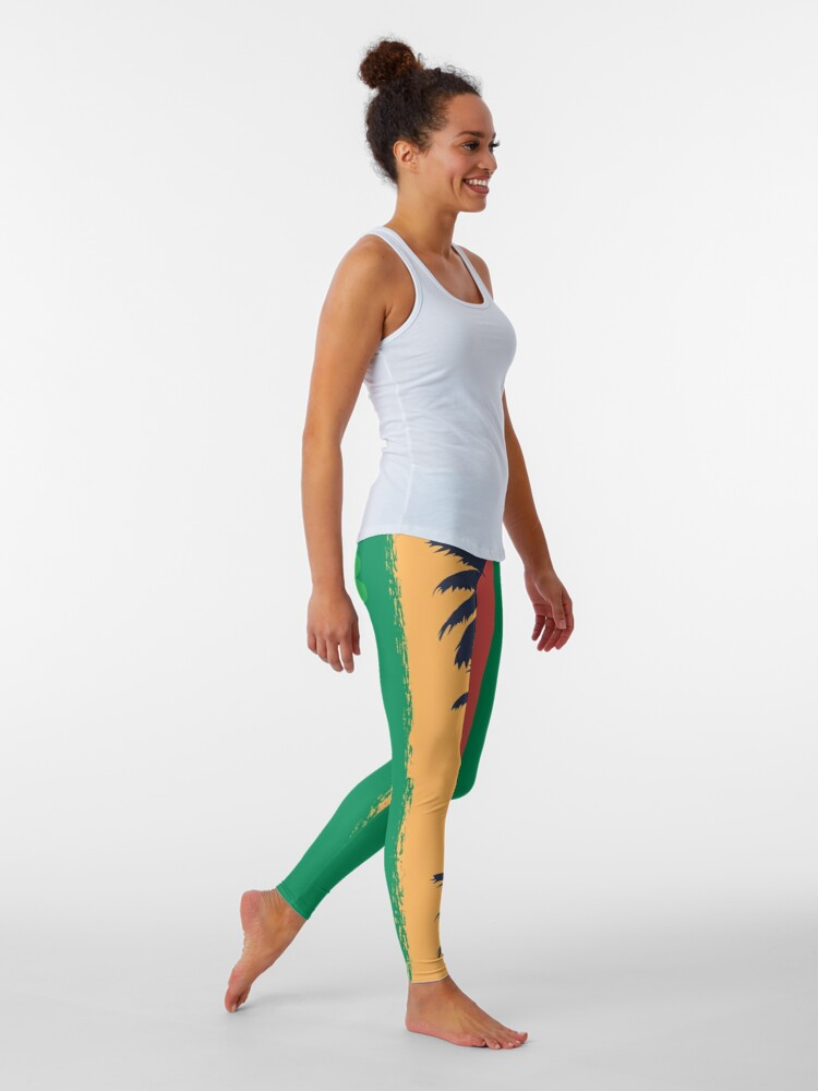 Alternate view of I love Reggae ! Leggings