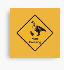 Nene Crossing, Traffic Warning Sign, Hawaii Canvas Print