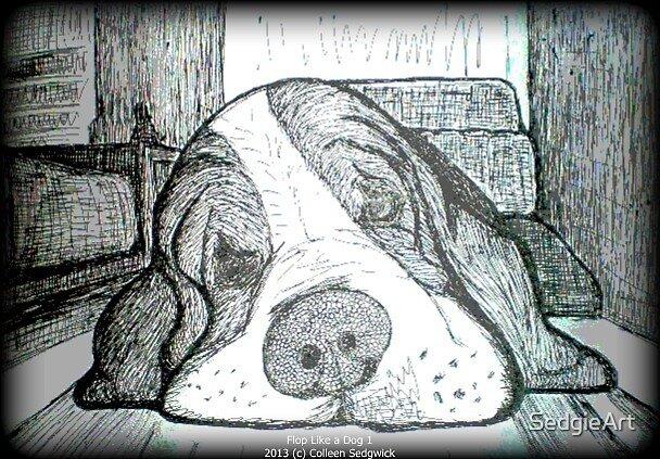 Sleepy dog 02 by SedgieArt