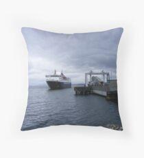 MV Isle of Mull docking at Craignure, Isle of Mull Throw Pillow