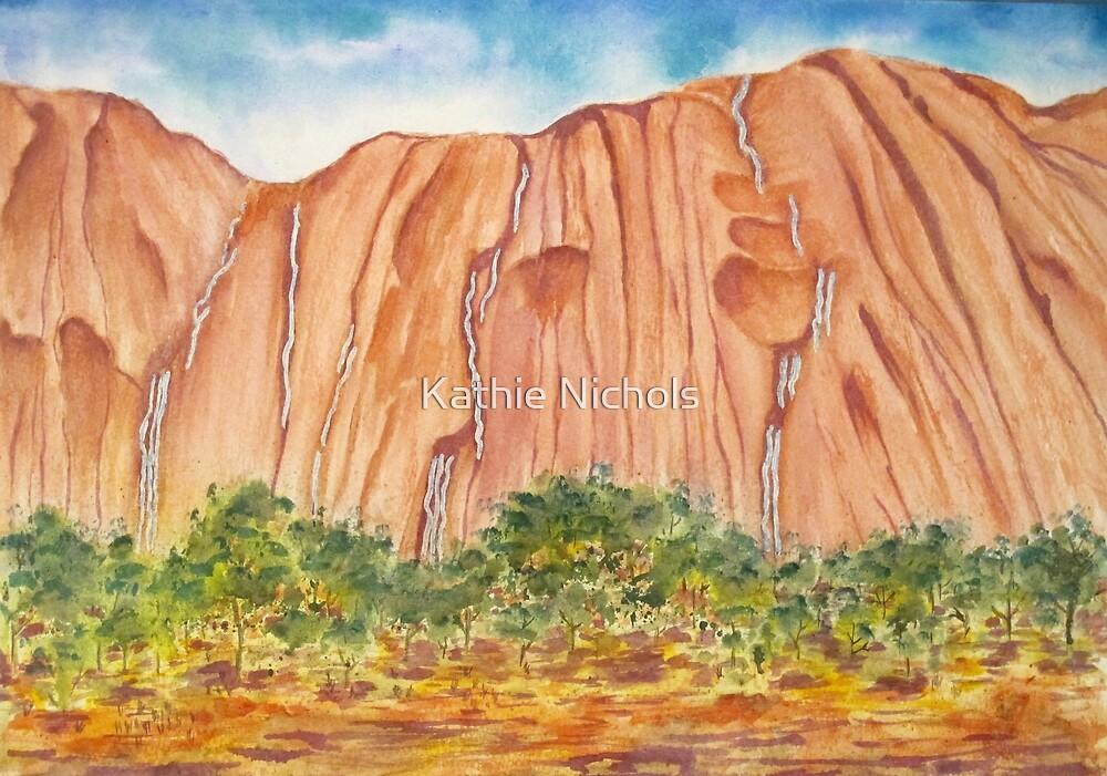 Waterfalls on Ayres Rock by Kathie Nichols