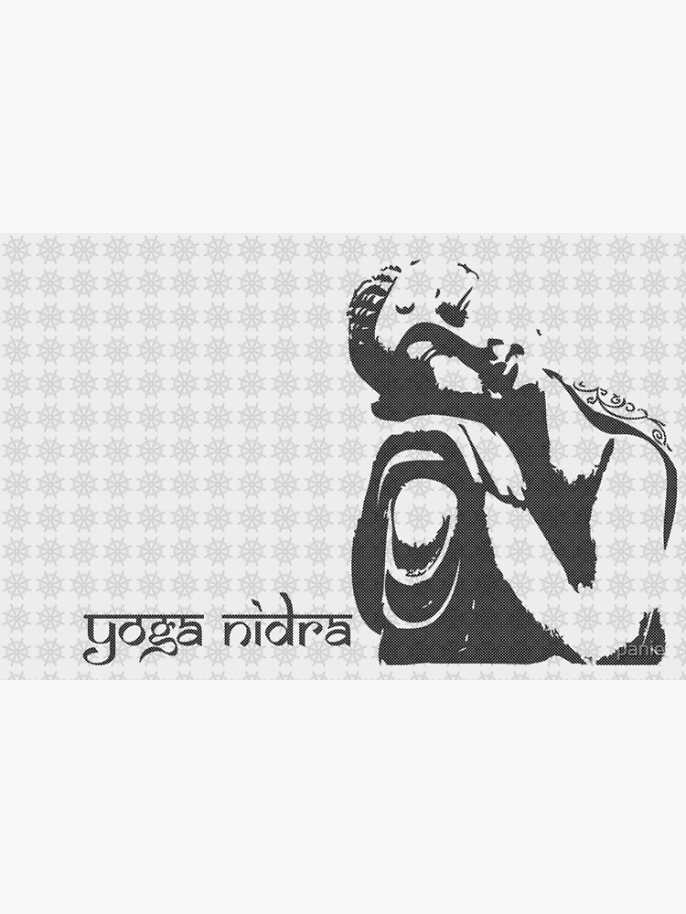 Buddha Graphic Yoga Nidra Sleep Greeting Card By Panie Redbubble