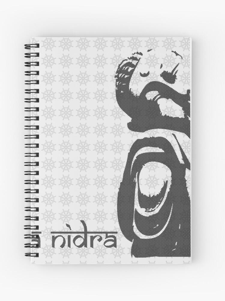 Buddha Graphic Yoga Nidra Sleep Spiral Notebook By Panie Redbubble