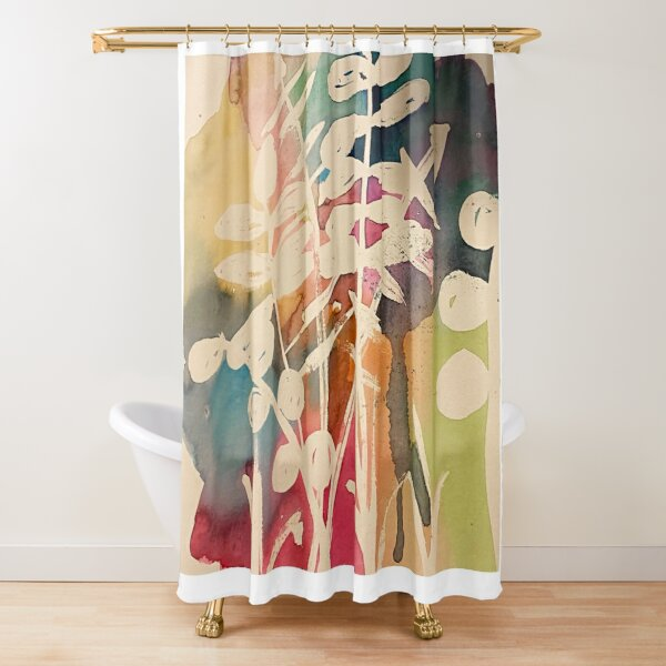 Nature's watercolor Shower Curtain