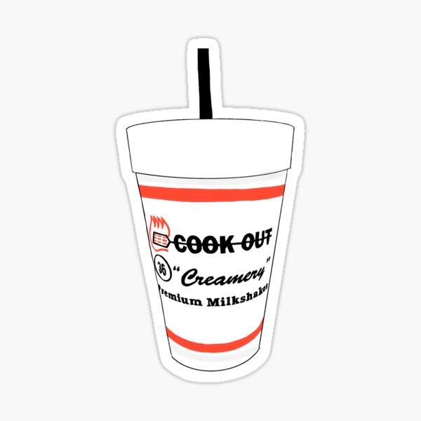 Cookout cup creamery premium milkshakes 36 Sticker