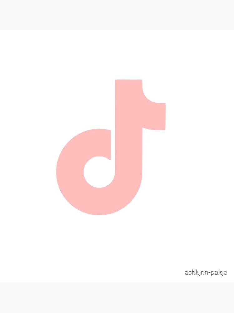 Salmon Light Pink Tiktok Logo Greeting Card By Ashlynn Paige Redbubble