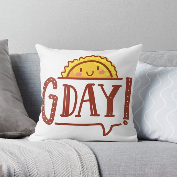 G'day by AussiEmoji™ Australia Throw Pillow