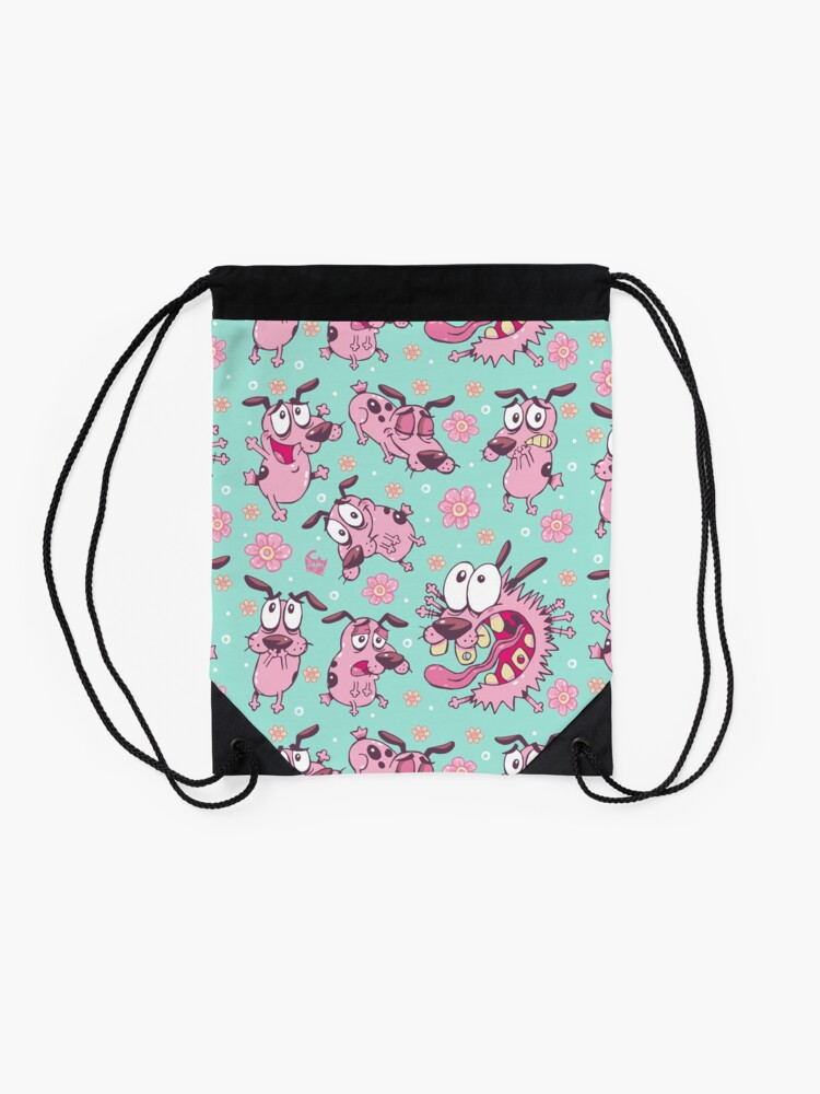 Alternate view of Courage the Cowardly Dog Emote Drawstring Bag