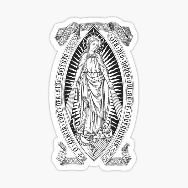 Immaculate Conception 03 - black bkg Sticker