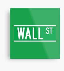 Wall St., New York Street Sign Metal Print