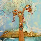 tree of love owls by © Karin Taylor