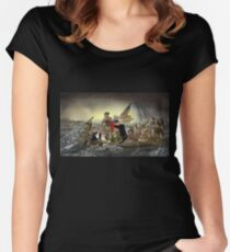 The Whos Crossing the Delaware Women's Fitted Scoop T-Shirt