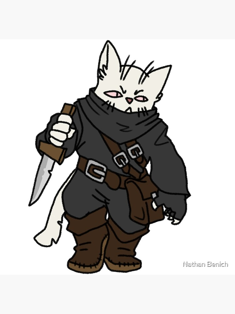 Tabaxi Rogue Greeting Card By Grapeglasses Redbubble Skip to main search results. redbubble