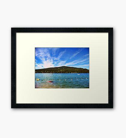 Lion Mountain (Whitefish, Montana, USA) Framed Print