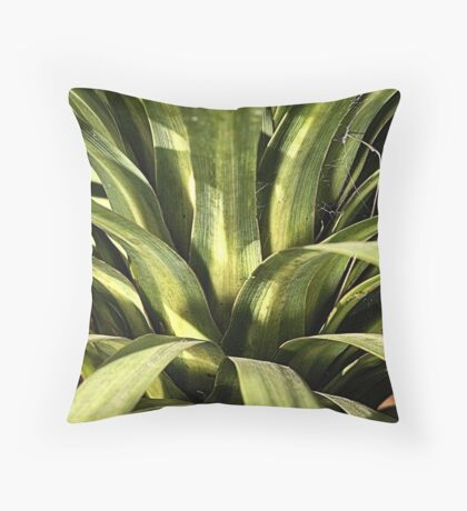 Palm Green Throw Pillow