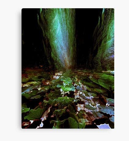 green pond....standing stones Canvas Print