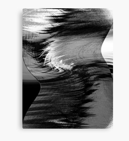 a profile.... hyperactive brain waves Canvas Print