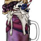 """""""The Monk"""" Monster Milkshake - Blueberry Pie by Kiel Chenier"""